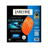 Labeyrie saumon fumé de Norvège 2 tranches 75g