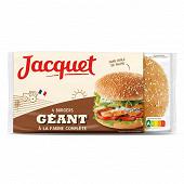 Jacquet hamburger géant complet x4 330g
