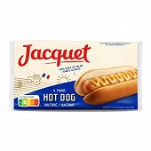Jacquet pains hot dog x4 240g