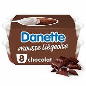 Danette mousse liégeoise dessert lacté au chocolat 8x80g