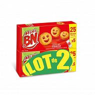 Bn lot de 2 mini bn fraise 350g