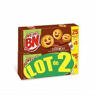 Bn lot de 2 mini bn chocolat 350g