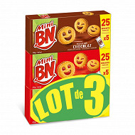 BN lot de 3 mini mixte 1 chocolat + 2 fraises 525g