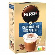 Nescafé cappuccino décaféiné (10 sticks 12,5g)