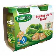 Bledina Pots Legumes Verts Poulet 2X200G 6 mois