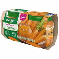 Bledina Pots  Carottes 2X130G 4/6 mois