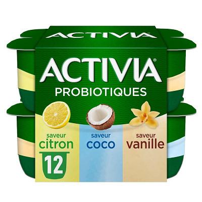 Danone Activia bifidus saveur panaché sans arôme artificiel 12x125g