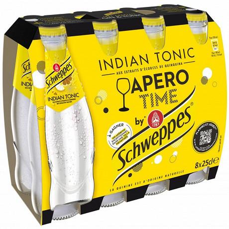 Schweppes mixers régular indian tonic 8x25cl