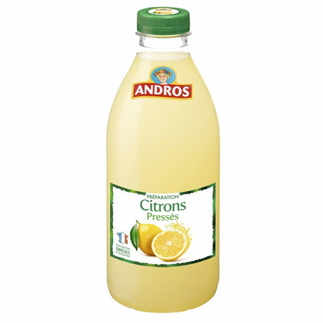 Andros préparation de citrons pressés 1l