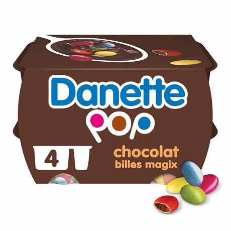 Danette pop choco magix 4x120g