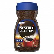 Nescafé sélection décaféiné café soluble corsé et intense 200g