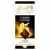 Lindt excellence noir citron gingembre 100g
