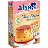 Alsa préparation gâteau de semoule nappage caramel 2 sachets 414g