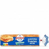 Jacquet 32 petites tranches nature sans sucres ajoutés 700g