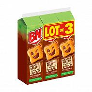 Bn lot de 3 goût chocolat 855g