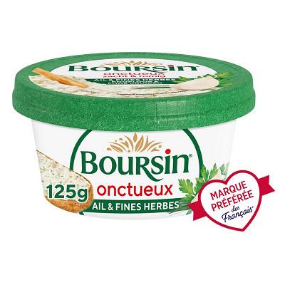 Boursin Boursin onctueux ail et fines herbes pot 125g