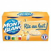Mont Blanc riz au lait 4x125g