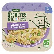 Bledina les récoltes bio duo de petits pois & fenouil quinoa dès 12 mois 230g
