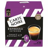 Carte Noire capsules espresso type dolce gusto intense 128g