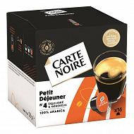 Carte Noire capsules type dolce gusto petit déjeuner n°4 x16 128g