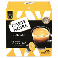 Carte Noire capsules type dolce gusto lungo n°5 x16 128g