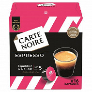 Carte Noire capsules type dolce gusto espresso n°5 x16 128g