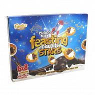 Biscuits avec garniture au goût de cacao et de lait (6x8 biscuits) 288 g