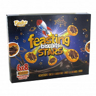 Biscuits star avec garniture goût cacao 6 x 8 biscuits 288 g