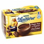 La Laitière petit pot de crème chocolat 4x100g