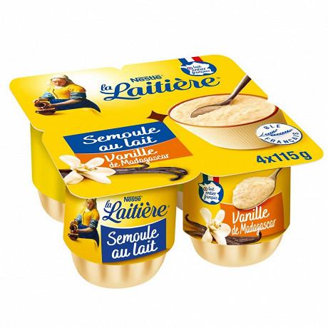 La Laitière semoule au lait vanille 4x115g