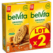 Lu belvita miel et pépites de chocolat lot x2 870g
