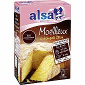 Alsa préparation gâteau moelleux citron 435g