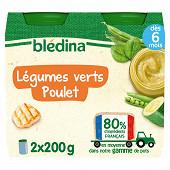 Bledina pots légumes verts poulet 2x200g