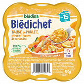 Blédina blédichef tajine de poulet citron et touche de coriandre dès 15 mois 250g