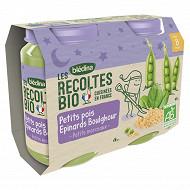 Bledina les récoltes bio petits pois epinards boulghour dès 8 mois 2x200g