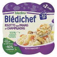 Blédina blédichef risotto aux panais et champignons dès 12 mois 2x230g