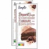 Chocolat pâtissier 44% 2x200g