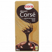 Cora  chocolat noir dessert corsé 64% de cacao 200g