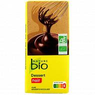 Nature bio tablette dessert bio noir 200g