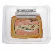 Pate croute saumon farci a la mousseline de poisson et legumes 100g