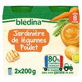 Bledina pots jardinière de légumes poulet 2x200g