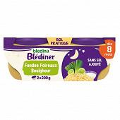 Bledina blediner fondue de poireaux et boulghour 2x200g