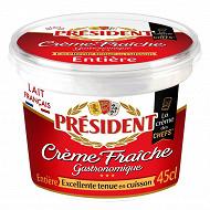 Président crème fraîche entière épaisse 30% mg pot 45cl/441g