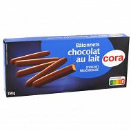 Cora bâtonnet chocolat au lait 150g