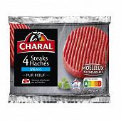 Steak haché pur boeuf 5% mg 4x100g Charal