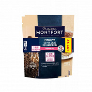 Maison Montfort escalopes de foie gras de canard lot de 2x160g