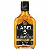 Label 5 scotch whisky flask 20cl 40%vol