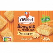 St michel mini brownie chocolat blanc x8 240g