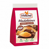 St michel madeleines coquilles nappees chocolat  350g