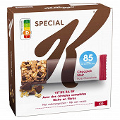 Kellogg's spécial k barres céréales chocolat noir x6 129g